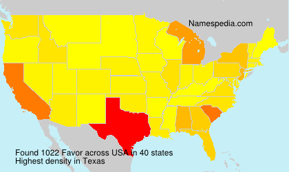 Surname Favor in USA
