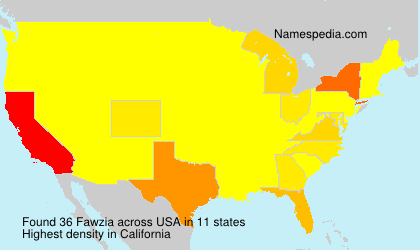 Familiennamen Fawzia - USA