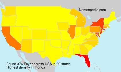Surname Fayer in USA