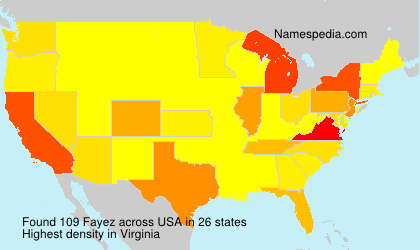 Surname Fayez in USA