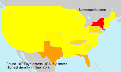 Surname Fayo in USA