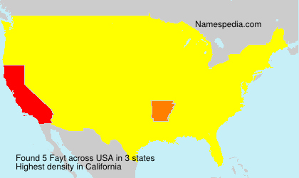 Surname Fayt in USA