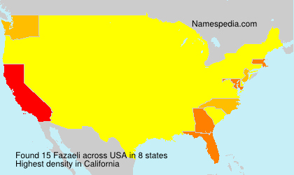 Surname Fazaeli in USA
