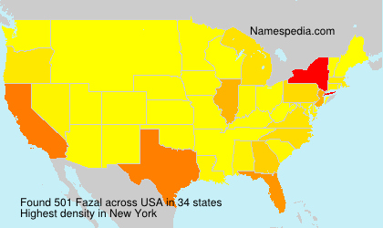 Surname Fazal in USA
