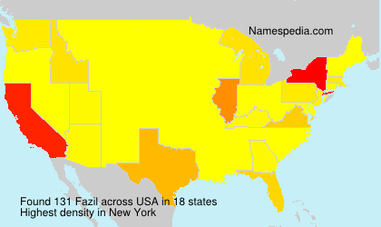 Surname Fazil in USA