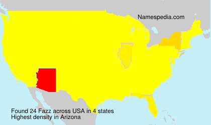 Surname Fazz in USA