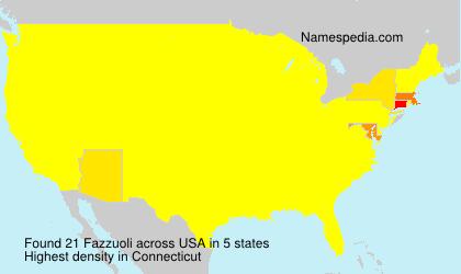 Surname Fazzuoli in USA