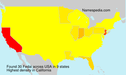 Surname Fedai in USA