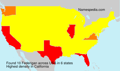 Surname Federigan in USA