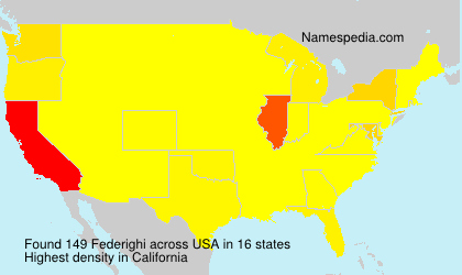 Surname Federighi in USA