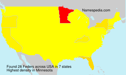 Surname Feders in USA