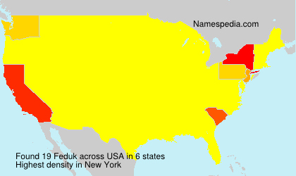 Surname Feduk in USA