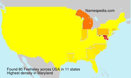 Surname Feeheley in USA
