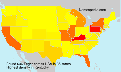 Surname Feger in USA