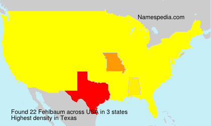 Surname Fehlbaum in USA