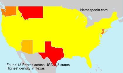 Surname Fehres in USA