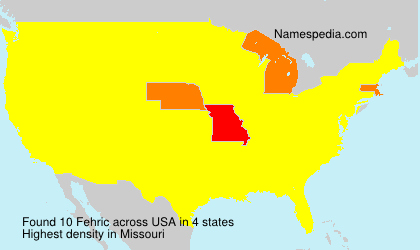 Familiennamen Fehric - USA