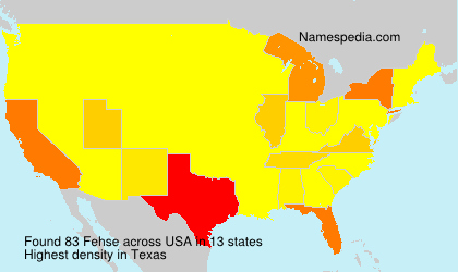 Surname Fehse in USA