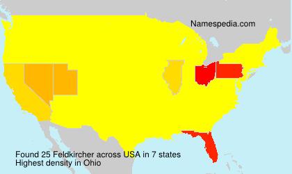 Surname Feldkircher in USA