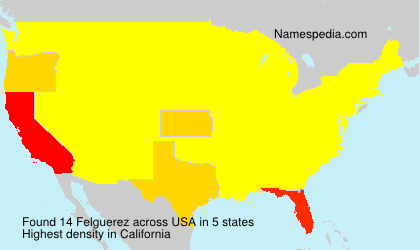 Surname Felguerez in USA