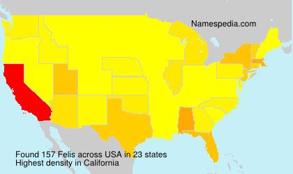 Familiennamen Felis - USA