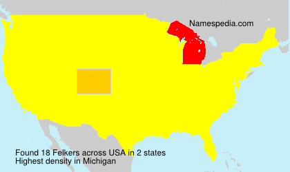 Surname Felkers in USA