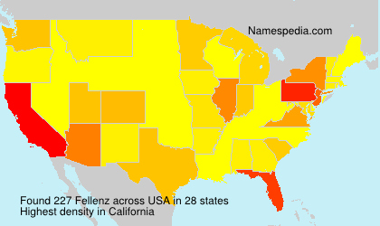 Surname Fellenz in USA