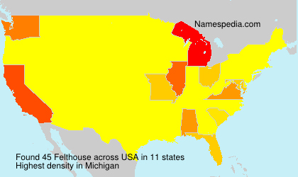 Surname Felthouse in USA