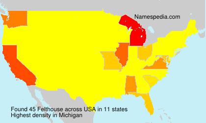 Familiennamen Felthouse - USA