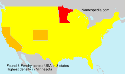 Surname Fendry in USA