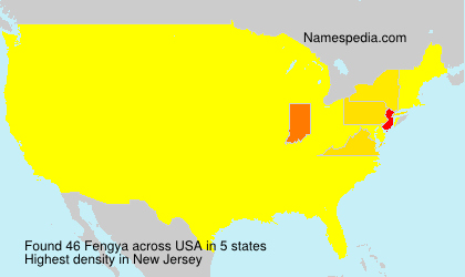 Surname Fengya in USA