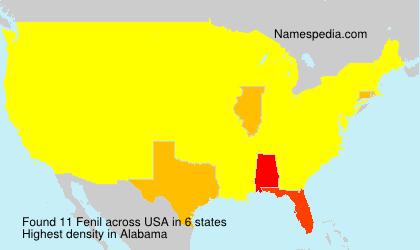 Surname Fenil in USA
