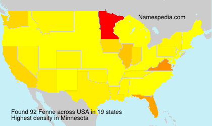 Surname Fenne in USA