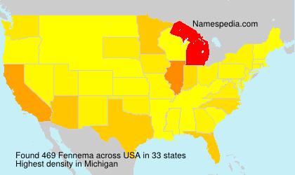 Surname Fennema in USA
