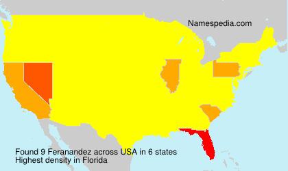 Familiennamen Feranandez - USA