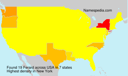 Surname Ferard in USA