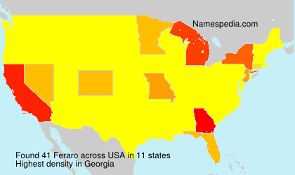 Surname Feraro in USA