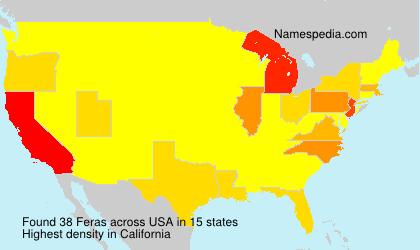 Surname Feras in USA