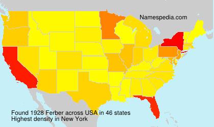 Familiennamen Ferber - USA