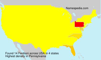 Surname Ferdiani in USA