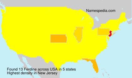 Familiennamen Ferdine - USA