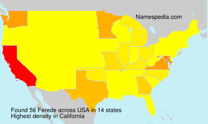 Surname Ferede in USA