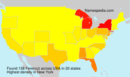 Surname Ferenczi in USA