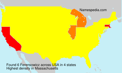 Surname Ferensowicz in USA