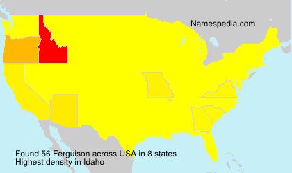 Familiennamen Ferguison - USA