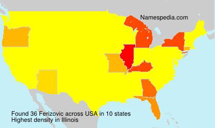 Familiennamen Ferizovic - USA