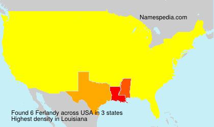 Surname Ferlandy in USA