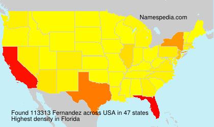 Familiennamen Fernandez - USA