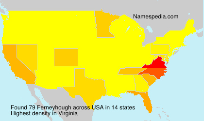 Surname Ferneyhough in USA