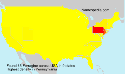 Surname Ferragine in USA